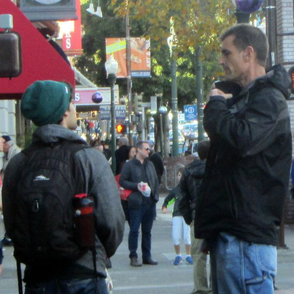 MIKE WITNESSES TO YOUNG MAN IN BERKELEY.